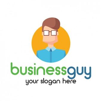 Logo con avatar de hombre de negocios