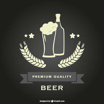 Logo con botella de cerveza