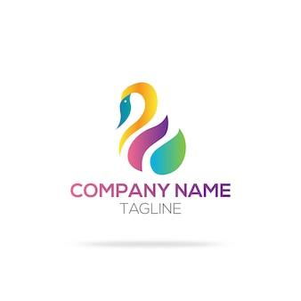 Logo con diseño de cisne