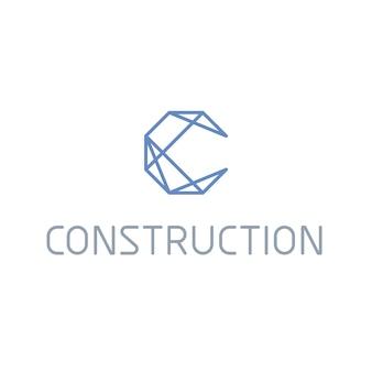 Logo con diseño de construcción