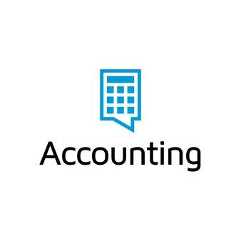 Logo con diseño de contabilidad