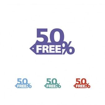Logo con diseño de descuento del 50%