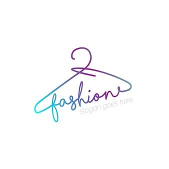 Logo con diseño de percha