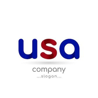 Logo con diseño de usa