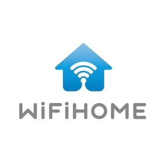 Logo con diseño de wifi