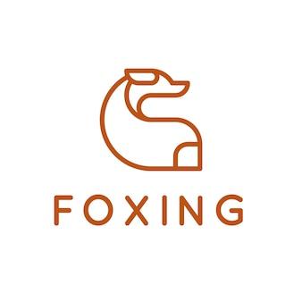 Logo con diseño de zorro