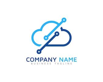 Logo con diseño nube