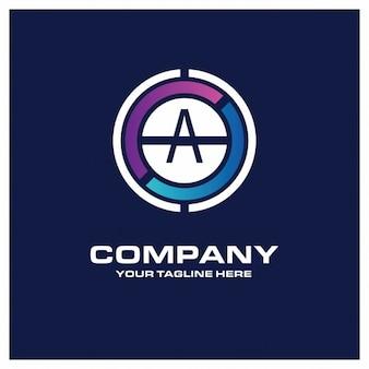 Logo creativo en círculo de letra a