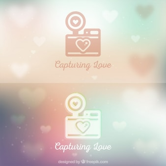 Logo de cámara de amor