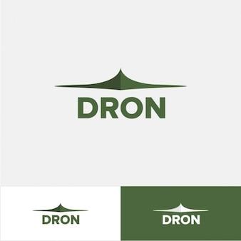 Logo de dron en color verde