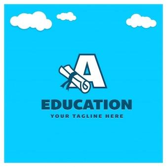 Logo de educación de letra A