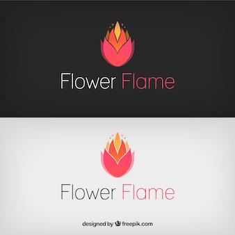 Logo de flor de llama