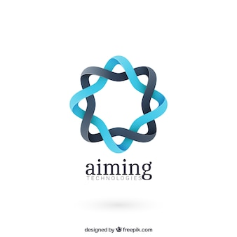 Logo de forma redonda abstracta