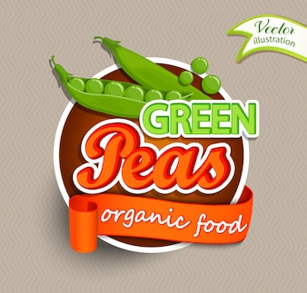 Logo de guisantes verdes.