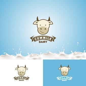 Logo de leche de vaca