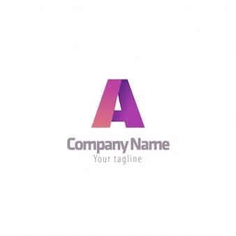 Logo de letra a multicolor