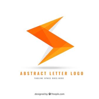 Logo de letra geométrica abstracta