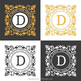 Logo de lujo en estilo ornamental