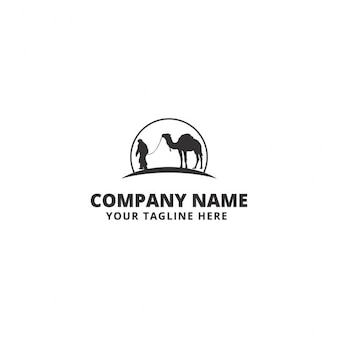Logo de negocios con un camello y un hombre