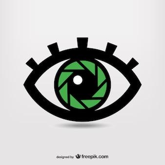 Logo de ojo con obturador