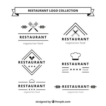 Logo de restaurante con diseño clásico