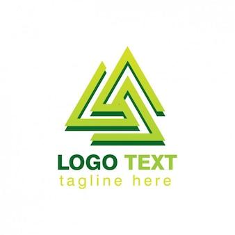 Logo de triiángulos abstractos entrelazados