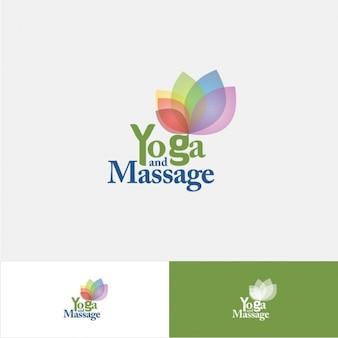 Logo de yoga y masaje