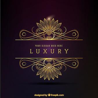 Logo decorativo dorado lujoso