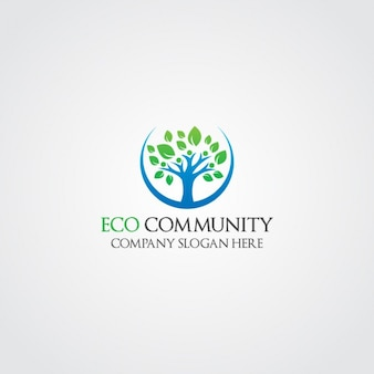 Logo ecológico de árbol