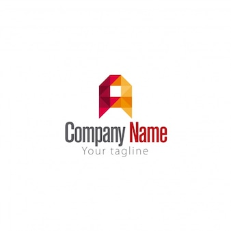 Logo geométrico de letra a