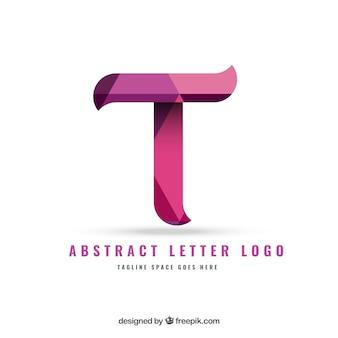 Logo letra en estilo abstracto