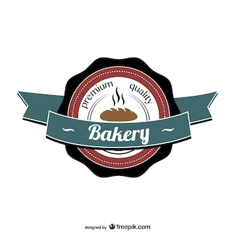 Logo retro de panadería