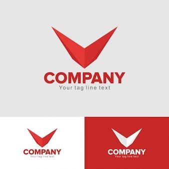 Logo rojo de aviación