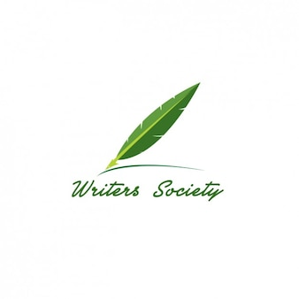 Logo verde de escritores