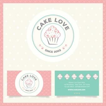 Logo y tarjetas de visita de pastelería