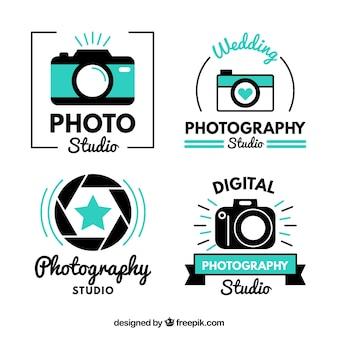 Logos bonitos modernos de estudio de fotos