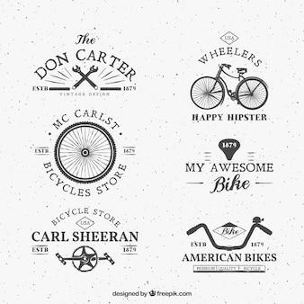Logos de bici en estilo retro