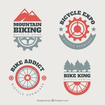 Logos de bicis de montaña con estilo moderno