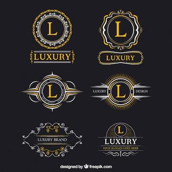 Logos lujosos de mayúsculas