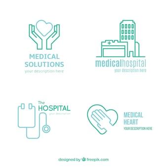 Logos médicos lineales