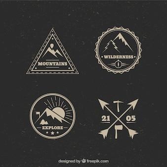 Logos vintage de alpinismo