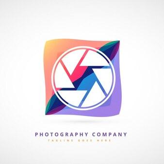 Logotipo abstracto colorido de fotografía