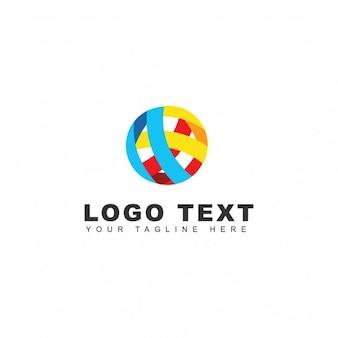 Logotipo abstracto colorido redondo