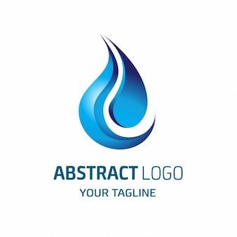 Logotipo abstracto en forma de llama azul