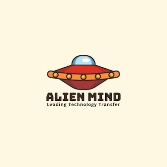 Logotipo alienígena sobre un fondo amarillo