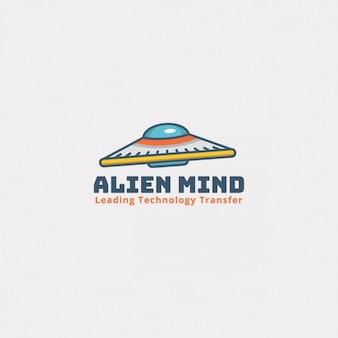 Logotipo alienígena sobre un fondo blanco