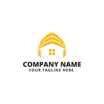 Logotipo amarillo con una casa