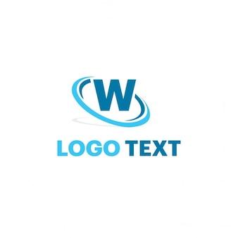 Logotipo azul con la letra w