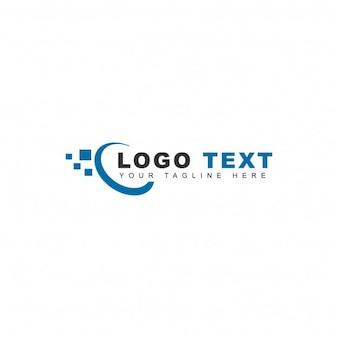 Logotipo azul de tecnología