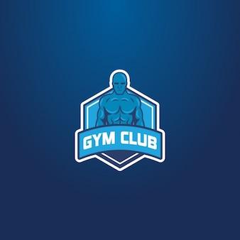 Logotipo azul, gimnasia